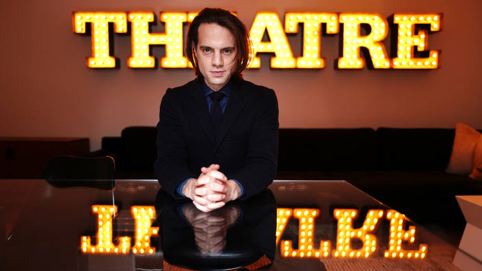 Producer Jordan Roth at the Saint James Theatre in New York City