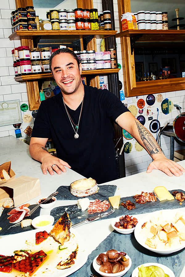 Jake Goznikar, manager of Murray's Cheese Bar in Greenwich Village, New York