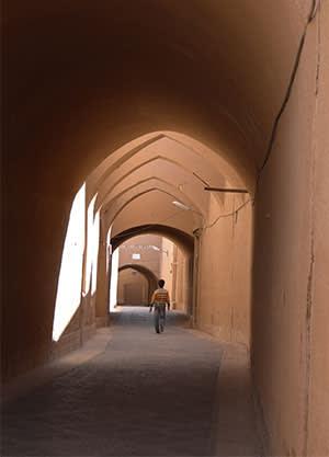 Yazd's historic adobe centre