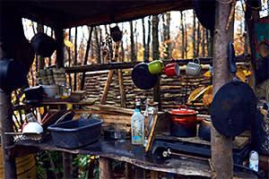 Bates's outdoor kitchen