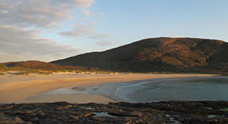 A bay on Barra at 10.30pm