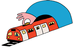 Illustration by leillo of a train