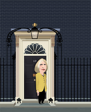 An illustration by Luis Grañena of Theresa May