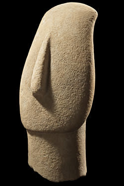 Head of a Cycladic idol (2600-2500BC)