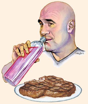Illustration by James Ferguson of Dana White