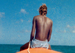 A still from McQueen's new work, 'Ashes', about a young fisherman who was killed by drug dealers. The film uses footage shot in Grenada 12 years ago
