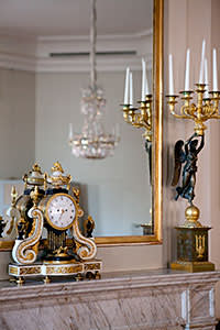 Clock in the drawing room