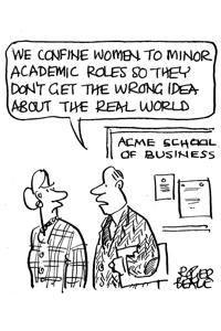 We confine women to minor academic roles
