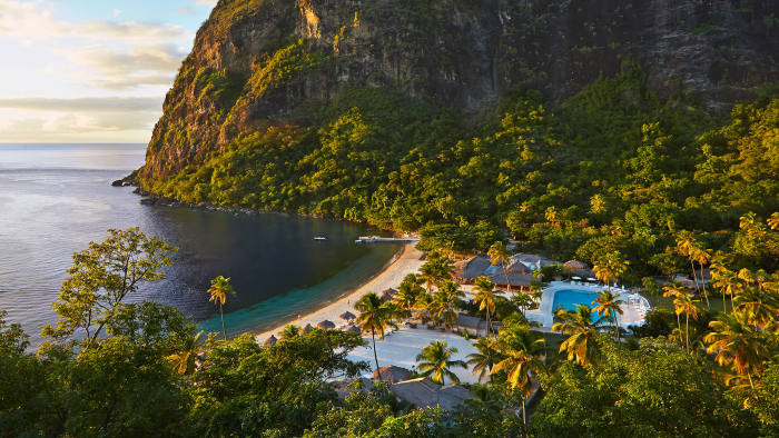 Set between the Pitons, Sugar Beach is a Viceroy resort where one of the Glenconner Beach Residences is on sale for $16m