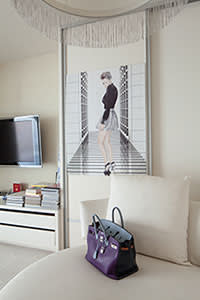 Portrait of Chou in her bedroom