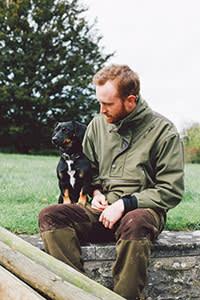 Wheatley-Hubbard with his dog