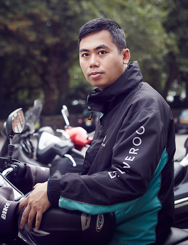 Bhone Kyaw, courier for food-delivery company Deliveroo
