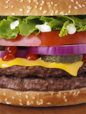 A photo of a burger