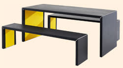 James Burleigh's InsideOut table and bench set