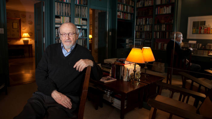 New York, NY January 14, 2014 : Celebrated author E. L. Doctorow discusses his new book, Andrews Brain, at his apartment in New York, NY on January 10, 2014. E. L. Doctorows works of fiction include Homer & Langley, The March, Billy Bathgate, Ragtime, the Book of Daniel, City of God, Welcome to Hard Times, Loon Lake, Worlds Fair, The Waterworks, and All the Time in the World. Among his honors are the National Book Award, three National Book Critics Circle Awards, two PEN Faulkner Awards, The Edith Wharton Citation for Fiction, and the presidentially conferred National Humanities Medal. (Photo by Melanie Burford/Prime for The Washington Post via Getty Images)