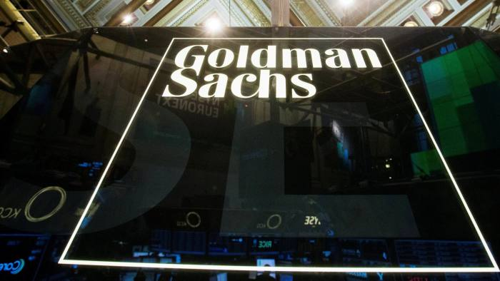 FILE PHOTO -  A Goldman Sachs sign is seen above the floor of the New York Stock Exchange shortly after the opening bell in the Manhattan borough of New York January 24, 2014.  REUTERS/Lucas Jackson/File Photo