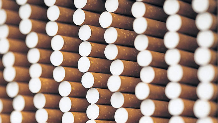 Cigarettes are seen during the manufacturing process in the British American Tobacco Cigarette Factory (BAT) in Bayreuth, southern Germany.