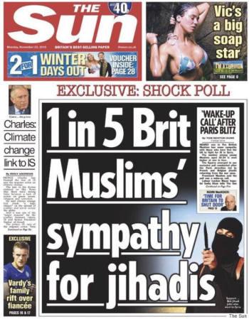 The Sun newspaper 23rd November 2015