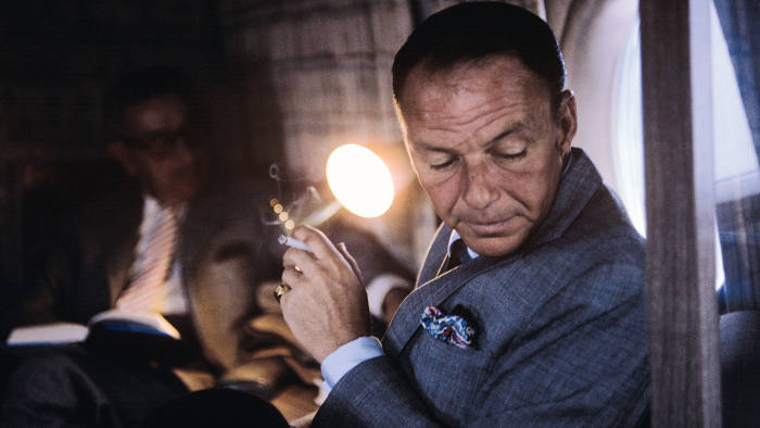 Frank Sinatra on his private plane, 1962, from 'The Rat Pack' (Reel Art Press), a limited-edition book of many previously unpublished photographs