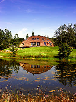 A rotating wooden home by US company Solaleya