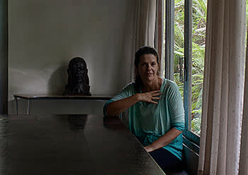 Beatriz Villas Boas in their home, 2014