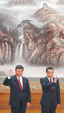 Xi Jinping, incoming president, left, and Li Keqiang, the incoming premier