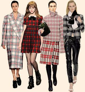 From left: Stella McCartney; Saint Laurent; Céline; Versace