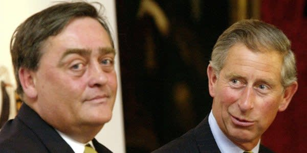File photo dated 27/6/2003 of the Prince of Wales (right) talks with the Duke of Westminster at the launch of an Affordable Rural Housing Initiative at St James' Palace, London. Billionaire landowner the Duke of Westminster, Gerald Cavendish Grosvenor, died today aged 64 at Royal Preston Hospital in Lancashire, a spokeswoman for his estate said. PRESS ASSOCIATION Photo. Issue date: Tuesday August 9, 2016. See PA story DEATH Westminister. Photo credit should read: Chris Young/PA Wire