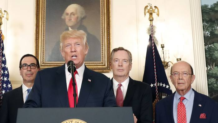 ff0428ed49b President Donald Trump speaks in the Diplomatic Reception Room of the White  House on Monday