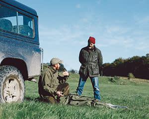 Tim Hayward and  marksman Chris Wheatley-Hubbard