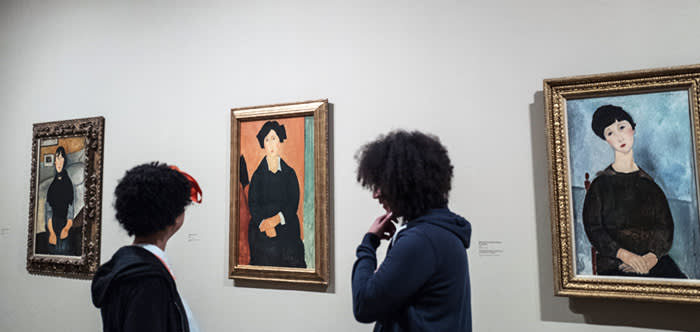 Tate photocall. The new exhibition of works by Amedeo Modigliani at the Tate this morning.