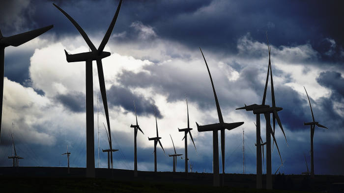 EAST KILBRIDE, SCOTLAND - JULY 17: Wind turbines are seen at Whitelees wind farm on July 17, 2015 in East Kilbride, Scotland. According to a trade body Scottish councils could lose out on an estimated ?44m of income over the next 20 years if changes are made to wind farm subsidies. (Photo by Jeff J Mitchell/Getty Images)