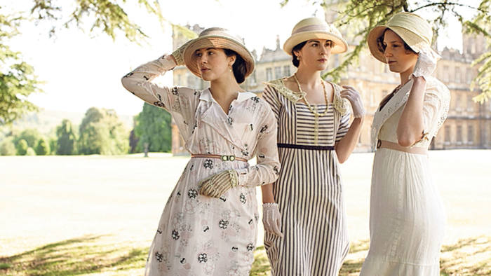 Lady Sybil, Lady Mary and Lady Edith in 'Downton Abbey'