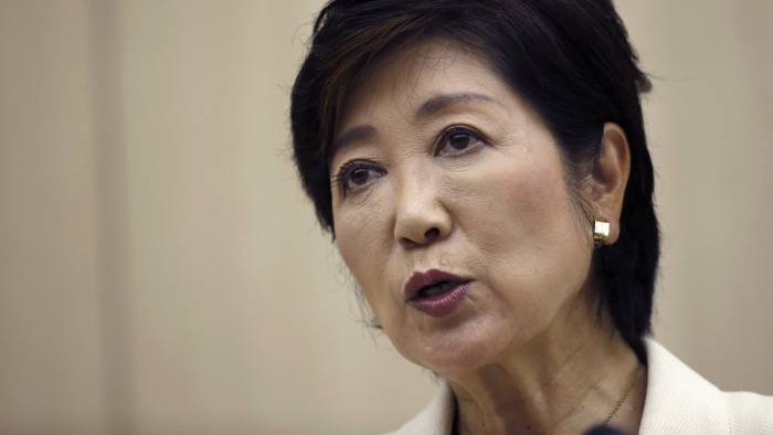 Newly elected Tokyo Governor Yuriko Koike speaks during her first press conference at the Tokyo Metropolitan government office in Tokyo, Tuesday, Aug. 2, 2016. Tokyo on Sunday elected its first female governor to lead the city as it prepares to host the 2020 Olympics. (AP Photo/Shizuo Kambayashi)