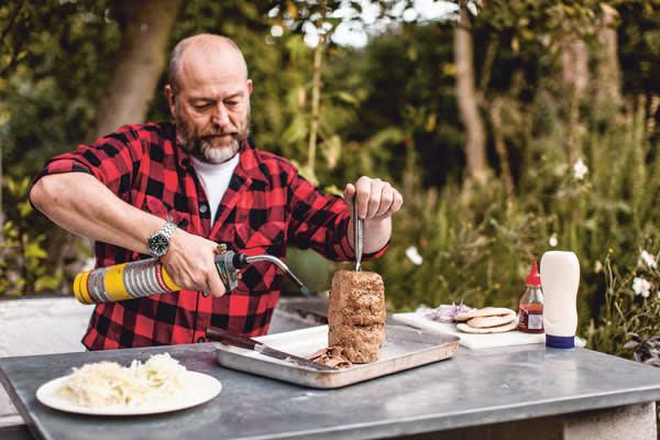 Tim Hayward preparing doner kebab