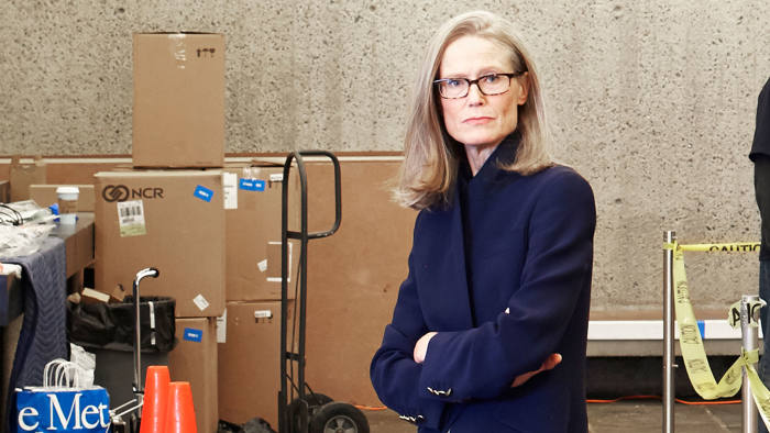 Sheena Wagstaff, chair of the Metropolitan Museum of Art's modern and contemporary division, at the new Met Breuer museum in New York this month