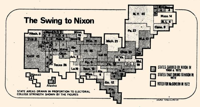 The FT's 1972 US election cartogram