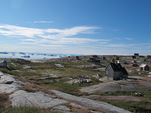 Houses in Oqaatsut, a settlement 15km north of Ilulissat