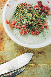 A rabbit ballotine dish