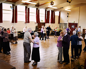 Dancing in the community centre