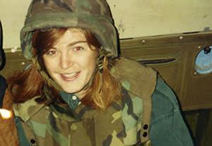 Samantha Power as a freelance war correspondent in Bosnia