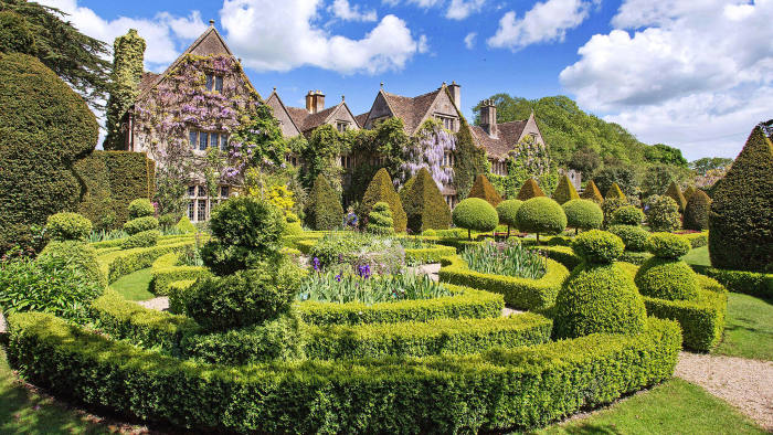 Abbey House, an 11-bedroom manor house in Malmsbury, Wiltshire, £3.25m through Strutt & Parker. Thanks to the fall in sterling, it is now 11 per cent cheaper for dollar buyers
