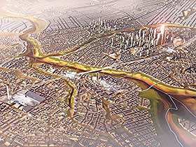 An artist's image of Egypt's proposed new, as yet unnamed, capital