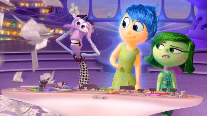 'Inside Out': Professor Dacher Keltner, below right, advised Pixar on its animation film that explores the conflicting emotions of an 11-year-old