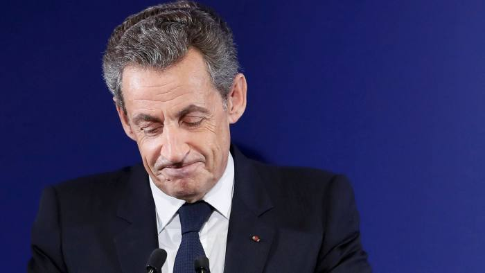 FILE PHOTO: Nicolas Sarkozy, former French president, at his headquarters in Paris , France, November 20, 2016. REUTERS/Ian Langsdon/File Photo