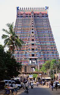 Temple of Srirangam, which is 236ft high