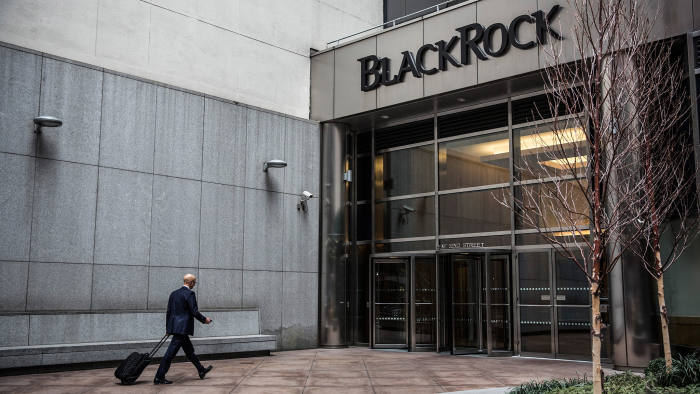 NEW YORK, NY - JANUARY 16: A man walks into the BlackRock offices on January 16, 2014 in New York City. Blackrock posted a 22 percent increase in the most recent quarterly profits announcement. (Photo by Andrew Burton/Getty Images)