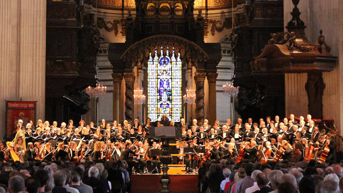 Britten's 'War Requiem' is performed in St Paul's Cathedral