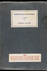 Evelyn Waugh's 'Brideshead Revisted', one of 50 pre-publication copies inscribed by the author to the Duke and Duchess