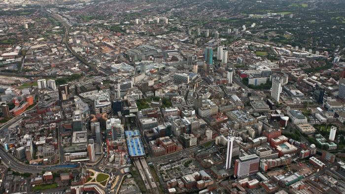 BIRMINGHAM, ENGLAND - SEPTEMBER 2008 : The City Centre of Birmingham. on 26th September 2008. (Photo by David Goddard/Getty Images)